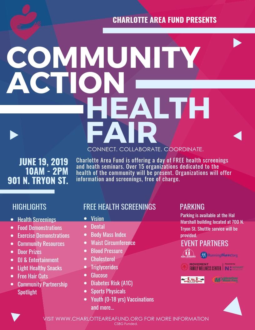 Community Action Health Fair Flyer - CAF