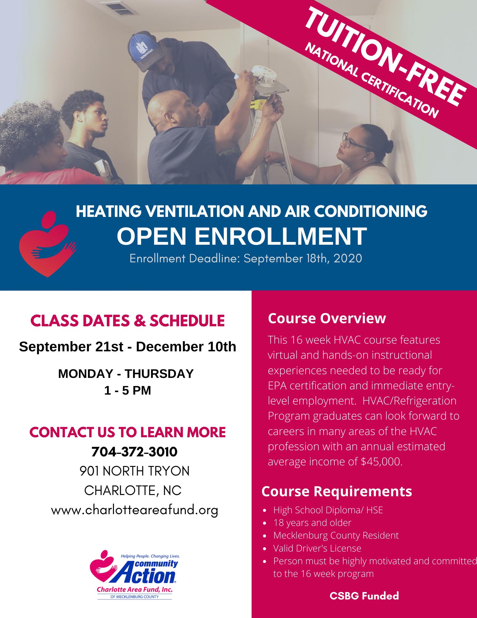 HVAC Open Enrollment